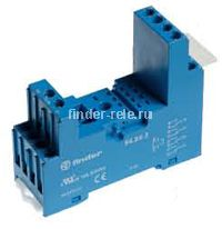 94.84.2SPA | 94842SPA | Розетка для реле 55.34, 55.32 и модуля 99.80 с комбинированными контактами; с пластиковым фиксатором; винтовые зажимы; синяя; 10А
