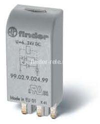 99.02.9.220.60   9902922060   Модуль индикации и защиты с функцией ограничения напряжения срабатывания и отпускания катушек реле (Umin=0,6Un) для реле с питанием 220В DC