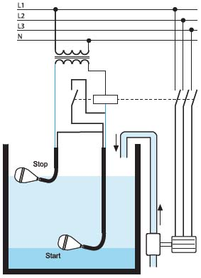 Подключение уровнеметра к водяному насосу малыш