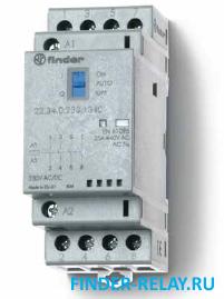 22.34.0.120.1620 | 223401201620 | Контактор модульный; 2НО + 2НЗ контакта 25А (~= 120В AC/DC) - AgNi