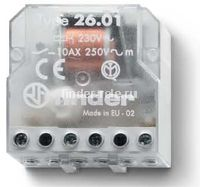 26.01.8.024.0000   260180240000   Импульсное реле, установка в монтажную коробку; 1НО контакт 10А (~ 24В AC)