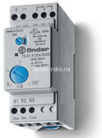 72.01.8.024.0000 | 720180240000 | Реле контроля жидкости; функции наполнения или дренажа; задержка 0,5-7сек.; чувствительность 5-150кОм; 1 перекидной контакт 16А (~ 24В AC)