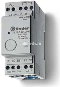 72.11.9.024.0000 | 721190240000 | Реле контроля жидкости; функции наполнения или дренажа; задержка 1сек.; чувствительность 150 кОм; 1 перекидной контакт 16А (= 24В DC)