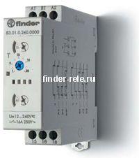 83.01.0.240.0000 | 830102400000 | Модульный многофункциональный таймер; функции: AI, DI, GI, SW, BE, CE, DE, WD; 1 перекидной контакт 16А (~/= 24-240В AC/DC)