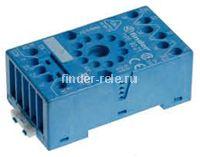 90.21.SMA | 9021SMA | Розетка для реле 60.13 и модуля 99.01 с комбинированными контактами; с металлическим фиксатором; винтовые зажимы; синяя; 10А