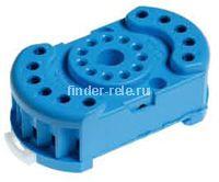 90.22.SMA | 9022SMA | Розетка для реле 60.12; с комбинированными контактами; с металлическим фиксатором; винтовые зажимы; синяя; 10А