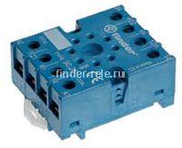 90.27.SMA | 9027SMA | Розетка для реле 60.13; с комбинированными контактами; с металлическим фиксатором; винтовые зажимы; синяя; 10А