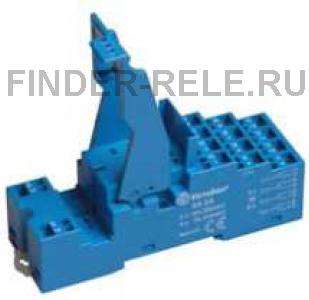 94.54SPA | 9454SPA | Розетка для реле 55.34, 55.32, 85.02, 85.04 и модулей 99.02, 86.30 с раздельными контактами; с пластиковым фиксатором; пружинные зажимы; синяя; 10А