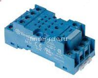 94.73.SMA | 9473SMA | Розетка для реле 55.33, 85.03 и модуля 99.01 с комбинированными контактами; с металлическим фиксатором; винтовые зажимы; синяя; 10А