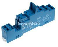 95.55.SMA | 9555SMA | Розетка для реле 40.51, 40.52, 40.61, 40.62, 44 и модуля 99.02/86.30; с раздельными контактами; с металлическим фиксатором; пружинные зажимы; синяя; 10А