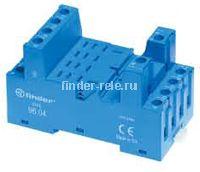96.04.SMA | 9604SMA | Розетка для реле 56.34 и модуля 99.02/86.30; с комбинированными контактами; с металлическим фиксатором; винтовые зажимы; синяя; 12А
