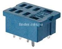 96.12.SMA | 9612SMA | Розетка для печатного монтажа реле 56.32 с металлическим фиксатором; синяя; 15А