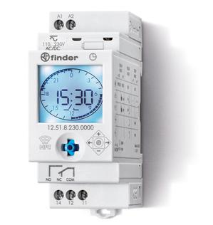 12.51.8.230.0000 | 125182300000 | Цифровое реле времени (с аналоговым циферблатом) с NFC, с суточной/недельной программами, 1 перекидной контакт (~230В AC)
