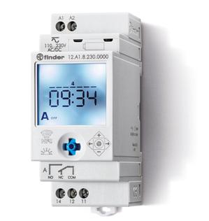 12.A1.8.230.0000   12A182300000   Цифровое недельное астрономическое реле времени c NFC; 1 перекидной контакт 16А (~ /= 110-230B AC/DC)