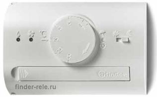 1T.41.9.003.0000.PAS | 1T4190030000PAS | Комнатный термостат (черный); 1 перекидной контакт 5А (= 3В DC)