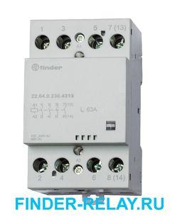 22.64.0.230.4310 | 226402304310 | Контактор модульный; 4НО контакта 63А (~= 230В AC/DC) - AgSnO2
