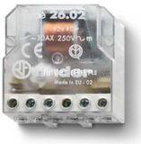 26.02.8.012.0000 | 260280120000 | Импульсное реле, установка в монтажную коробку; 2НО контакта 10А (~ 12В AC)