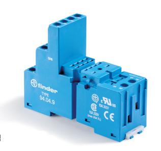 94.04.9SMA | 94049SMA | Розетка для реле 55.34, 55.32, 85.02, 85.04 и модулей 99.02, 86.30 с раздельными контактами; с металлическим фиксатором; винтовые зажимы; синяя; 10А
