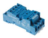 94.74.SMA | 9474SMA | Розетка для реле 55.34, 55.32, 85.02, 85.04 и модуля 99.01 с комбинированными контактами; с металлическим фиксатором; винтовые зажимы; синяя; 10А
