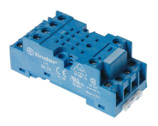 94.74.SMA   9474SMA   Розетка для реле 55.34, 55.32, 85.02, 85.04 и модуля 99.01 с комбинированными контактами; с металлическим фиксатором; винтовые зажимы; синяя; 10А