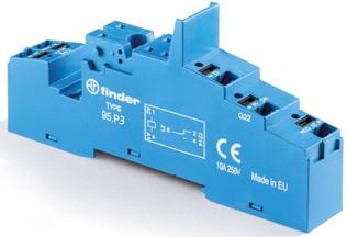95.P3SMA| 95P3SMA | Розетка с клеммами Push-in для реле  40.31 и модулей 99.02, 86.30 с раздельными контактами; с металлическим фиксатором; синяя; 10А