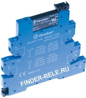 39.10.7.012.9024 | 391070129024 | Интерфейсный модуль твердотельного реле MasterBASIC (= 12В Чувст. пост. тока) выходная цепь 1НО 6А, 1,5-24В DC - винтовые клеммы - 39 Cерия - MasterINTERFACE - Интерфейсные модули реле 0,1-2-6А <- Интерфейсные модули - Products  | Finder relay