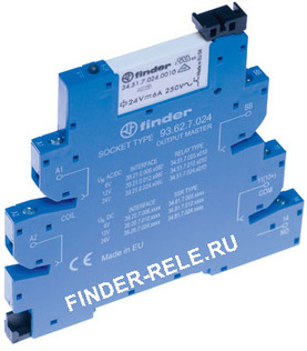 39.11.0.006.0060 | 391100060060 | Интерфейсный модуль реле MasterBASIC; 1 перекидной контакт 6А (~/= 6В AC/DC) винтовые клеммы